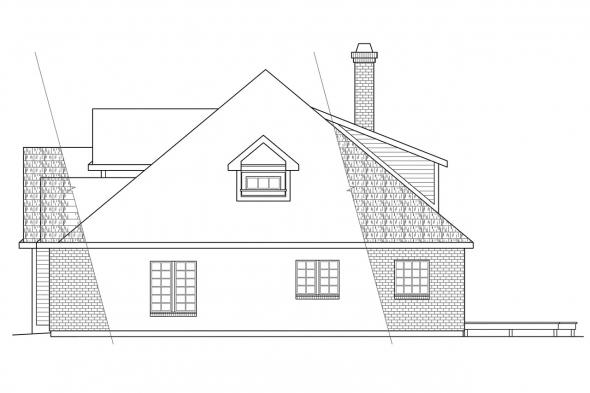 Classic House Plan - Berkley 10-032 - Right Elevation
