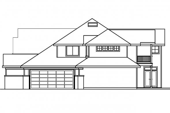 Classic House Plan - Bethany 30-272 - Right Elevation