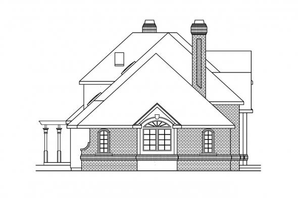 Classic House Plan - Brinton 30-178 - Left Elevation