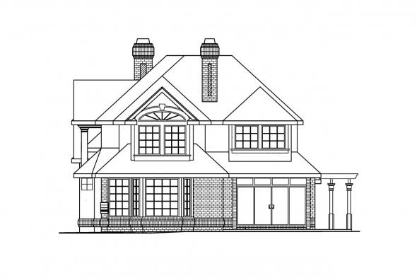 Classic House Plan - Brinton 30-178 - Right Elevation