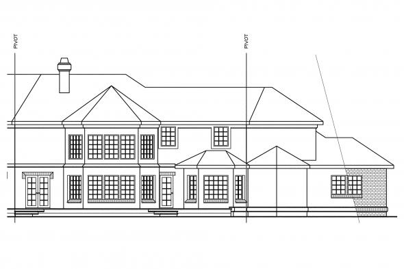 Classic House Plan - Cheshire 10-055 - Left Elevation
