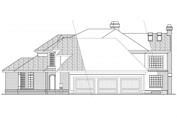 Classic House Plan - Cheshire 10-055 - Right Elevation