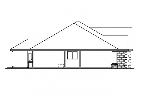 Classic House Plan - Davidson 30-384 - Left Elevation