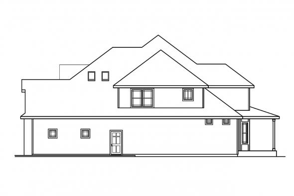 Classic House Plan - Hastings 30-361 - Right Elevation