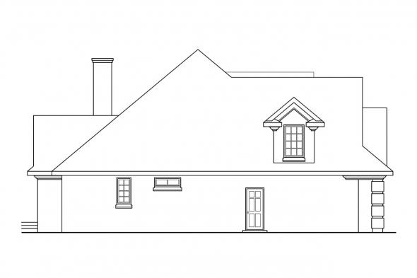 Classic House Plan - Hearthside 10-350 - Left Elevation