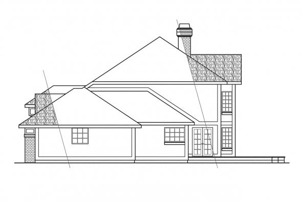 Classic House Plan - Heritage 10-044 - Right Elevation