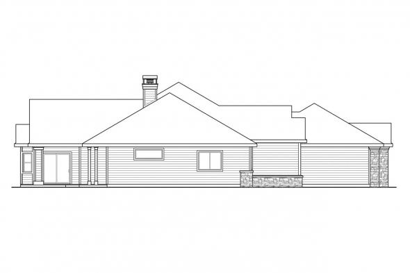 Classic House Plan - Meadow Lake 30-767 - Left Elevation