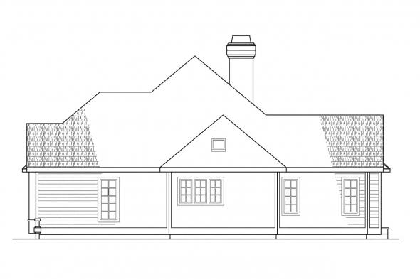 Classic House Plan - Melrose 10-047 - Right Elevation