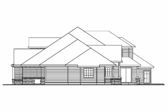 Classic House Plan - Monticello 30-734 - Right Elevation