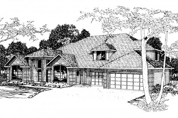 Classic House Plan - Stirling 10-242 - Front Elevation