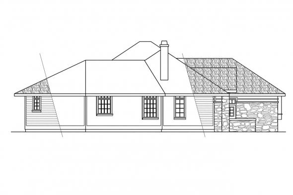 Classic House Plan - Stonecrest 10-054 - Left Elevation