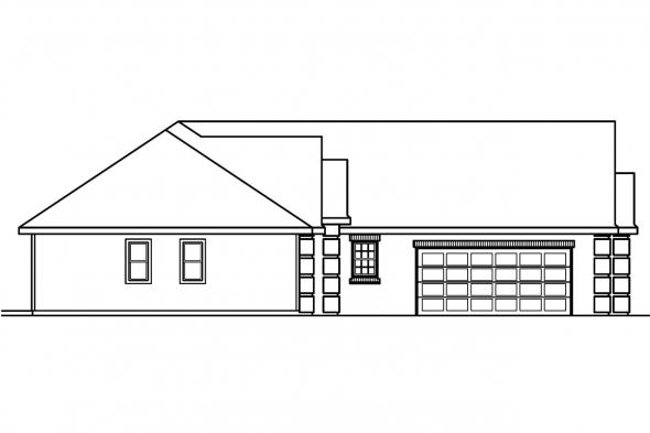 Classic House Plan - Willcox 30-232 - Left Elevation