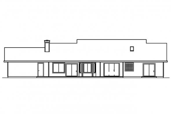Ranch House Plan - Redmond 30-226 - Rear Elevation