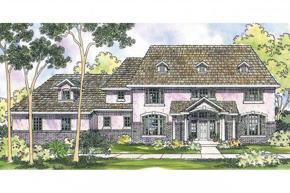 Colonial House Plan - Roxbury 30-187 - Front Elevation