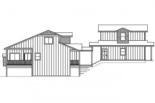 Contemporary House Plan - Roosevelt 30-603 - Left Elevation