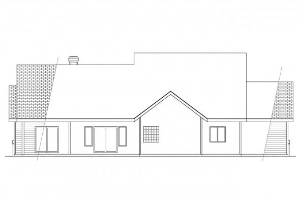 Contemporary Home Plan - Edgemont 10-136 - Rear Elevation