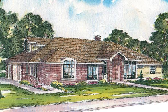 Contemporary House Plan - Ainsley 10-008 - Front Elevation