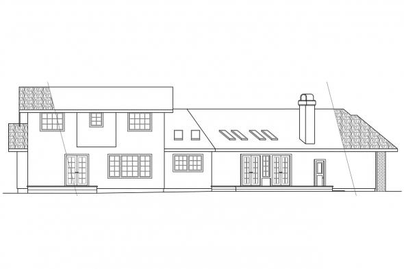 Contemporary House Plan - Beaumont 10-052 - Rear Elevation