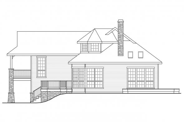 Contemporary House Plan - Cedar Hill 30-895 - Right Elevation