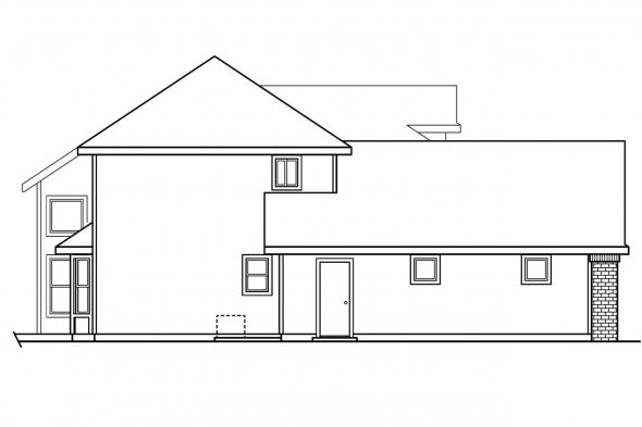 Contemporary House Plan - Chivington 30-260 - Left Elevation