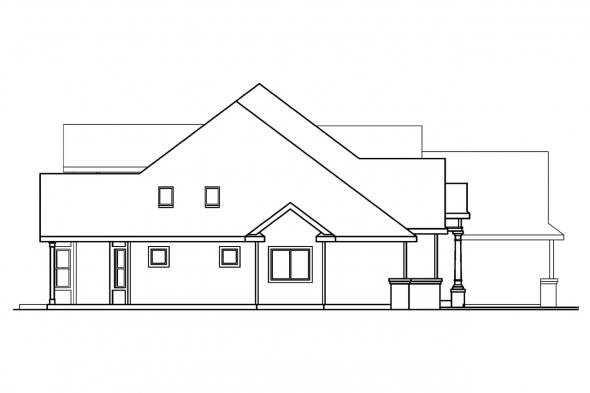 Contemporary House Plan - Edmonton 30-342 - Left Elevation