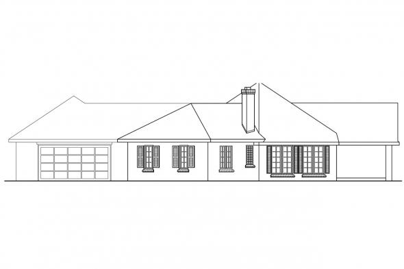 Contemporary House Plan - Hamilton 10-446 - Right Elevation