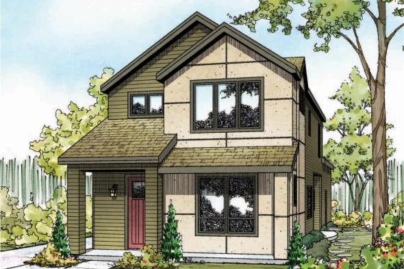 Contemporary House Plan - Larkspur 30-880 - Front Elevation