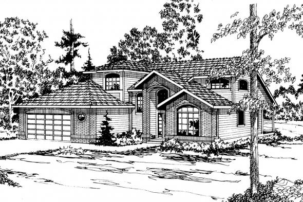 Contemporary House Plan - Mayfield 10-095 - Front Elevation