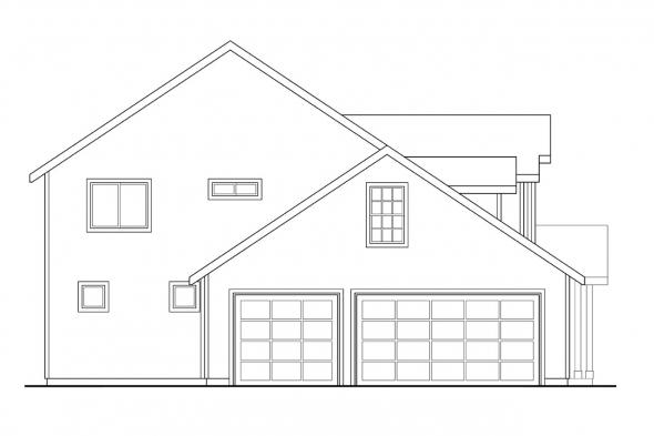 Contemporary House Plan - Olivia 30-219 - Left Elevation