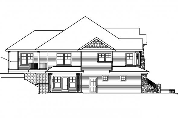 Contemporary House Plan - Pennington 30-602 - Left Elevation