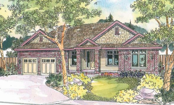 Contemporary House Plan - Stansbury 30-500 - Front Elevation