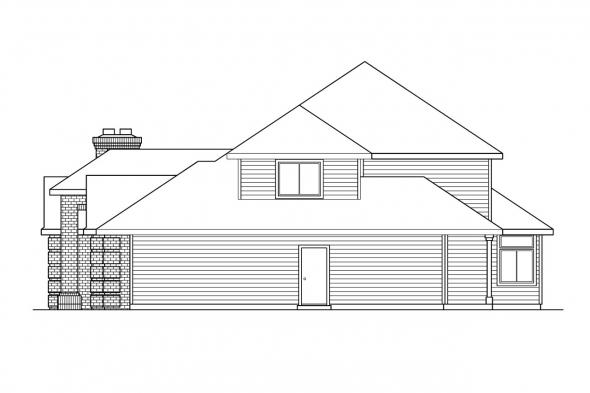 Contemporary House Plan - Stirling 10-242 - Right Elevation