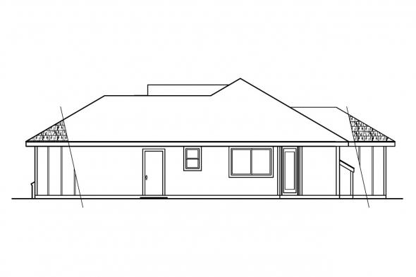 Contemporary House Plan - Tyndale 30-337 - Right Elevation