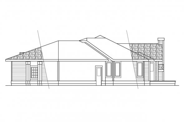Contemporary House Plan - Wateridge 10-144 - Right Elevation