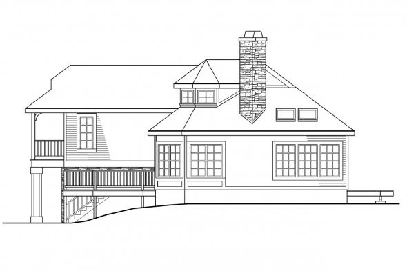 Contemporary House Plan - Winchester 30-003 - Right Elevation