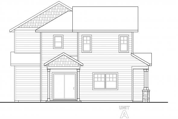 Cottage House Plan - Warrendale 60-036 - Left Elevation