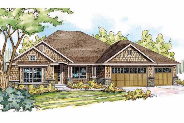 Cottage House Plan - River Grove 30-762 - Front Elevation