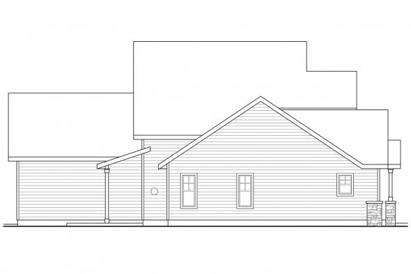 Cottage House Plan - Awbery 30-551 - Left Elevation
