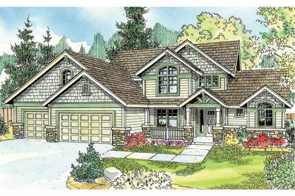 Cottage House Plan - Briarwood 30-690 - Front Elevation