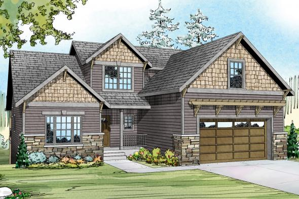 Cottage House Plan - Brookville 30-928 - Front Elevation