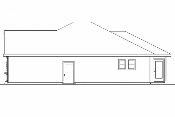 Cottage House Plan - Camas 30-711 - Right Elevation