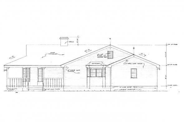 Cottage House Plan - Demerara 41-004 - Right Elevation