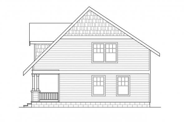Cottage House Plan - Dickenson 30-081 - Right Elevation