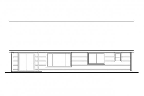 Cottage House Plan - Easthaven 30-778 - Rear Elevation