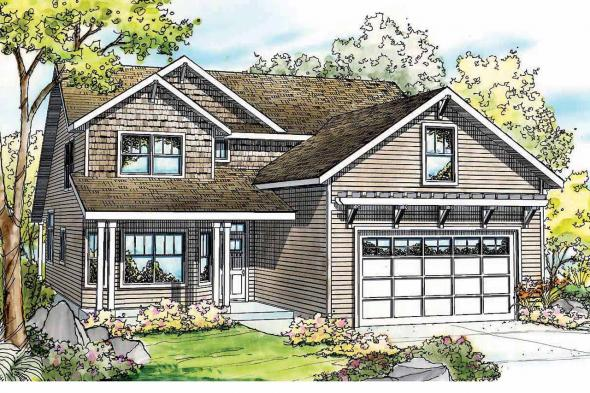 Cottage House Plan - Elkhorn 30-733 - Front Elevation