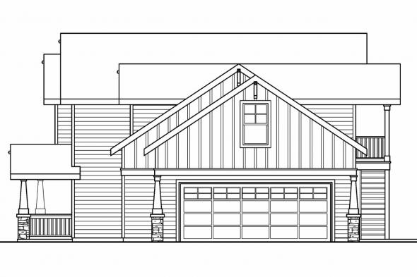 Cottage House Plan - Elmdale 30-598 - Right Elevation
