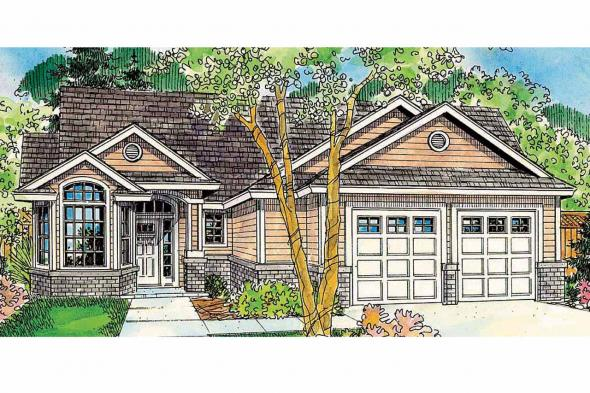 Cottage House Plan - Glendora 30-686 - Front Elevation