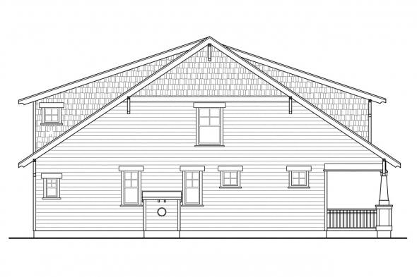 Cottage House Plan - Greenwood 70-001 - Left Elevation