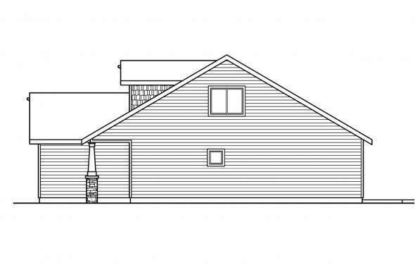 Cottage House Plan - Holshire 30-635 - Right Elevation