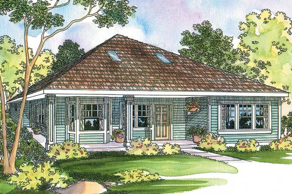 Cottage House Plan - Lincoln 30-203 - Front Elevation